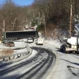 Truck Gets Stuck On Busy Roadway In Putnam