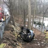 Driver, 19, Unharmed After Car Rolls Off Mahwah Road