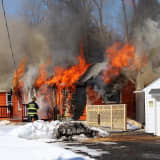 Raging Fire Destroys House In Mahopac