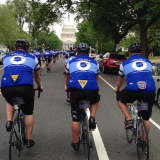 Area Police On Unity Tour Mourn Death Of Roxbury PD Lt. Joe Franklin