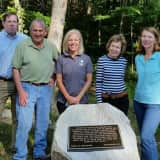 Plaque Dedicated At Leon Levy Preserve