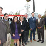 State Assembly Speaker Visits Nanuet Train Station
