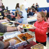 Mount Pleasant Third-Graders Enjoy Early Thanksgiving Meal