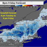 Snowfall From Merging Storms Now Expected In Wider Part Of Region