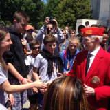 World War II Veteran Speaks To Hommocks Students On Their D.C. Trip