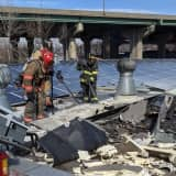 Just Passing By: Hackensack Firefighters Help Douse Ridgefield Park Candle Factory Blaze