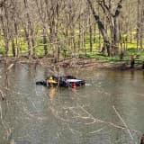 Fire Crews Rescue Man Who Drove Into Perkiomen Creek