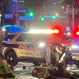 Clifton Police Car Goes Airborne During Chase, Knocks Down Signs, Pole In Garfield