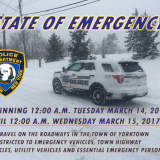 State Of Emergency Declared In Yorktown As Nor'easter Arrives