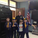 Cub Scouts Tour Newtown Police Station