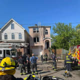 Crews Battle Elizabeth House Fire