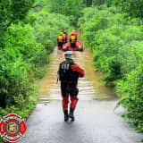 West Chester Fire Crews Rescue Man Trapped In Flood Water