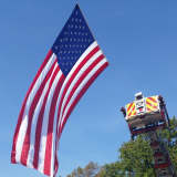 Teaneck, Ridgefield Park Firefighters Salute Last Beam From WTC