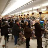 Hackensack Supermarket Overflows Ahead Of Snowstorm