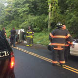 Driver Extricated After Rollover Crash In Danbury