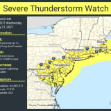 Severe Thunderstorm Watch In Effect For Region, With Damaging Winds, Large Hail Possible
