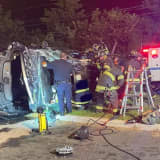 Firefighters Free Driver In Franklin Lakes Rollover
