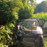 PHOTOS: Victim Seriously Injured After Jeep Veers Off Northampton County Road Into Woods