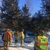 Driver Taken To Hospital After Car Ends Up In Snowbank In Weston
