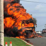 Tractor-Trailer Inferno Jams Northbound Route 17 In Ramsey