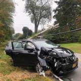 Crash Closes Road, Knocks Down Utility Pole In Area