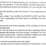 Bitcoin Bomb Threat: Obsolete Compound 'Hidden Anywhere' Would 'Wound People If It Detonates'