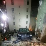 Apartment Building Evacuated In Westchester After Retaining Wall Collapses