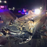Driver Survives Wild Route 80 Rollover
