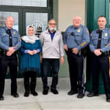 Mahwah Police Heroes Honored For Reviving Center For Food Action Manager, Donate Defibrillator