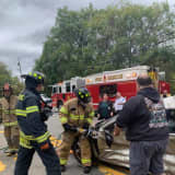 Motorist Extricated After Route 17 Crash