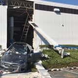 Mercedes Crashes Through Wall Of Fairfield Business, Drives Out Other Side