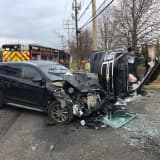 Photos: Long Island Crash Injures Two, One Seriously