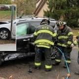 Hackensack Firefighters Free Driver In Crash