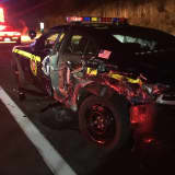 Drunk Trunk Driver Crashes Into Cruiser On Route 17, Police Say