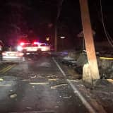 Crash Closes Road, Knocks Out Power In Rockland