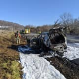 Far Hills-Bedminster FD Contain Car Fire That Had Begun To Spread