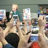 Hillary Clinton Makes Positions Clear In Bridgeport Get-Out-The-Vote Rally
