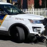 Ridgewood Police Car, Sedan Collide
