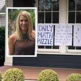 NJ Teacher Putting Math Puzzles In Her Window Every Day During Coronavirus Quarantine