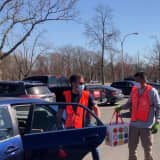 COVID-19: Free, Drive-Through Food Distributed At Westchester Community College