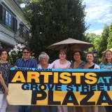 Artists Gather For Outdoor Show At Grove Street Plaza In Darien