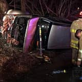 First Responders Extricate Driver In Bethel Rollover