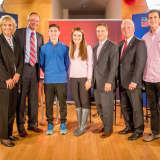 Brien McMahon Students Take Part In 'Meet The Leaders' With Rilling, Duff