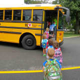 Croton Kindergartners Take In First Day Of School
