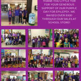 Little Tor Elementary In Clarkstown Turns Purple For A Day
