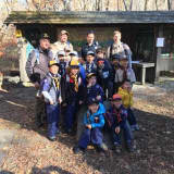 Bedford Police Officer Meets With Cub Scouts Before Hike