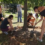 Inspira Spruces Up Grounds At Norwalk's Columbus School