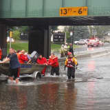 RAINSTORM: Fair Lawn, Elmwood Park Firefighters Rescue Stranded Car Occupants
