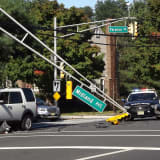 PHOTOS: Paramus Crash Downs Traffic Light