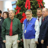 Bergen County Takes Time Out To Light Tree In Hackensack